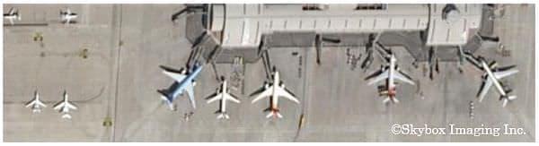 SkySat-1撮影画像例  北京空港、中国  2014年3月13日撮影