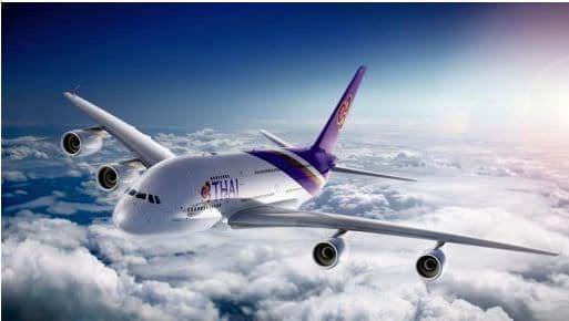 タイ国際航空エアバス  A380 型機(提供:タイ国際航空)