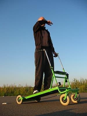 Rollator でのジョギングは、退屈知らず!