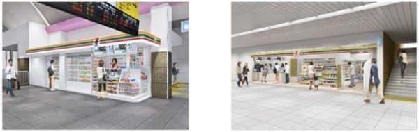 左・「セブン-イレブン Kiosk(キヨスク)」、右・「セブン-イレブン Heart・in(ハートイン」  (店舗イメージ )