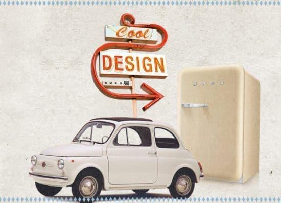 フィアットを冷蔵庫に! のコンセプトを示すデザイン  冷蔵庫だけに「クール」なんだとか……。