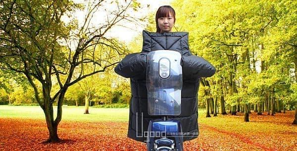 中国で販売されているスクーター用のブランケット