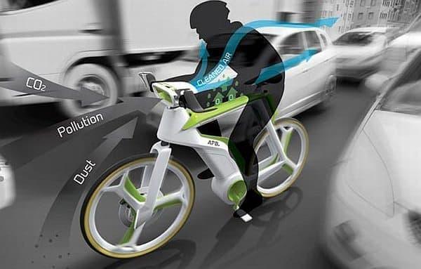 Air-Purifier Bike に乗れば、サイクリストはきれいな空気を吸える