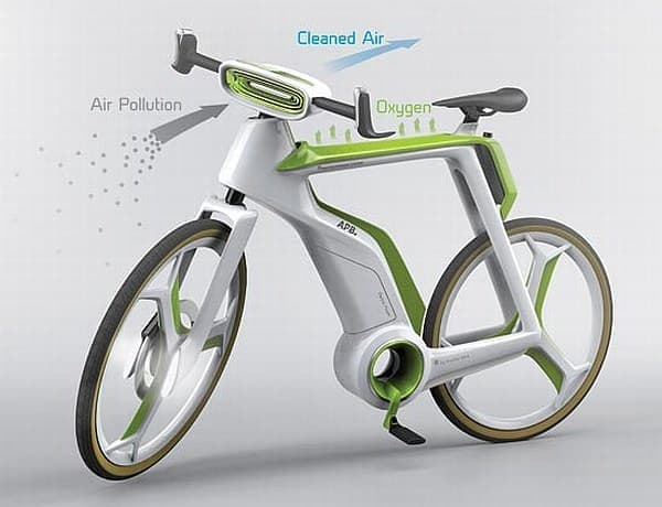 空気清浄機のついた自転車「Air-Purifier Bike」