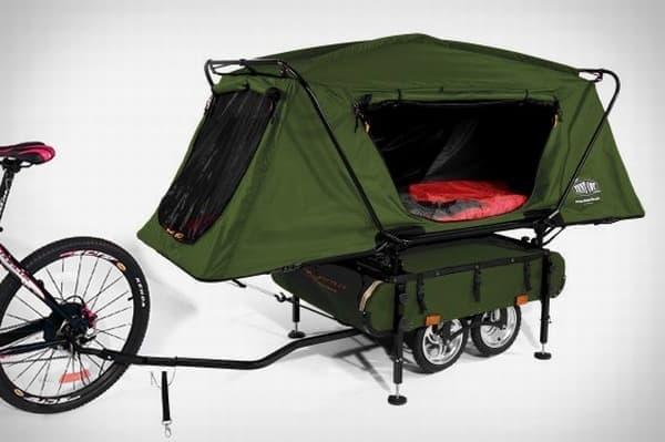 自転車用トレイラー「MIDGET BUSHTREKKA」  これを牽引して、いざ、旅へ!?