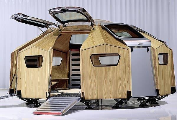 「TT Pavilion」は、自動車の持つ様々な機能性を表現している