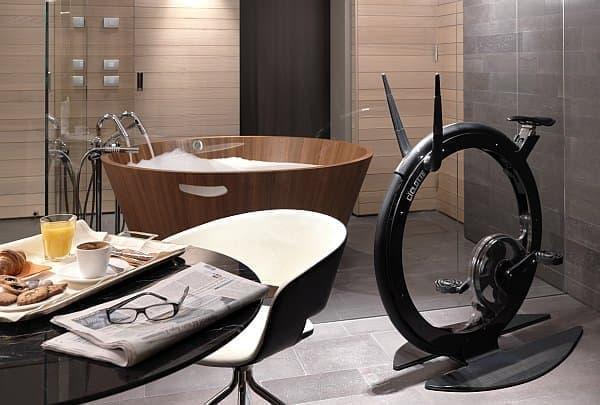 「Ciclotte」は、家具と調和するフィットネスマシン