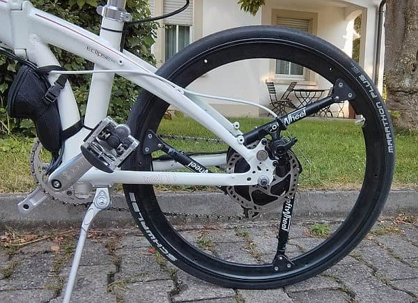 「Fluent Wheel」は、3本のショックアブソーバーを搭載した自転車用タイヤ