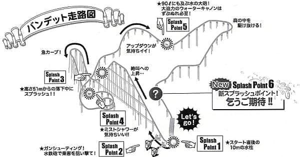 「スプラッシュバンデット」走路図 (画像提供:よみうりランド)