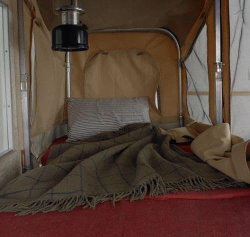 これが「Camper Kart」内のベッド