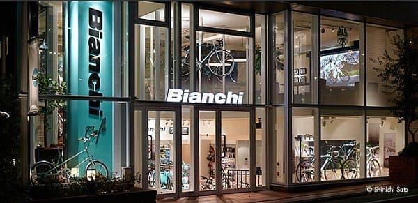 自由が丘の「Bianchi Cafe & Cycles(ビアンキ・カフェ&サイクルズ)」  (画像出典:ビアンキ・カフェ&サイクルズ」)