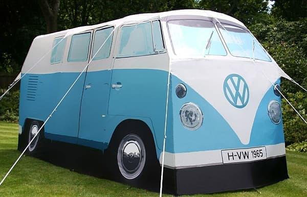 フォルクスワーゲンバスそっくりのテント「VW Camper Van Tent」