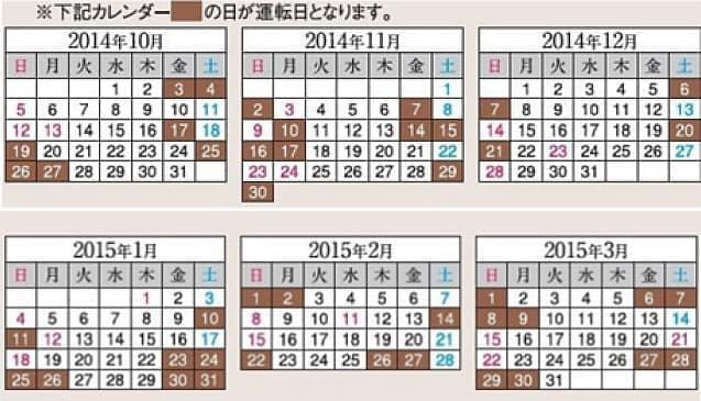 開催予定日  (注:開催日は変更になる可能性があります。  申し込みの際には、JR 東日本の Web サイトで開催日を確認ください)