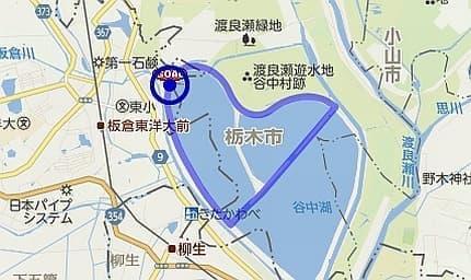 「ステージ1 渡良瀬」のコース  群馬県渡良瀬遊水地をまわる