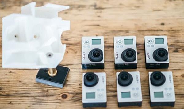 撮影には、6台の GoPro カメラを使用