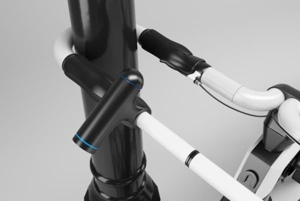 「nCycle」は、ハンドルを自転車ロックとして使用する