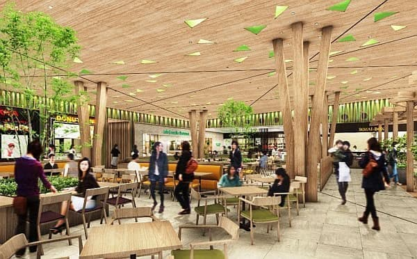 「パサ―ル守谷」には、レストラン、フードコート、カフェなどが設置される予定