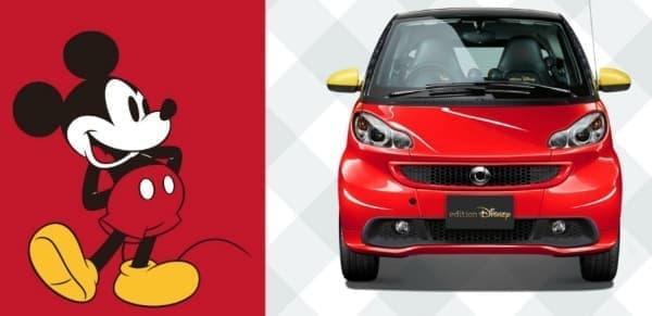 ミッキーマウスをイメージしたベンツ「smart fortwo electricdrive edition Disney」  (C)Disney