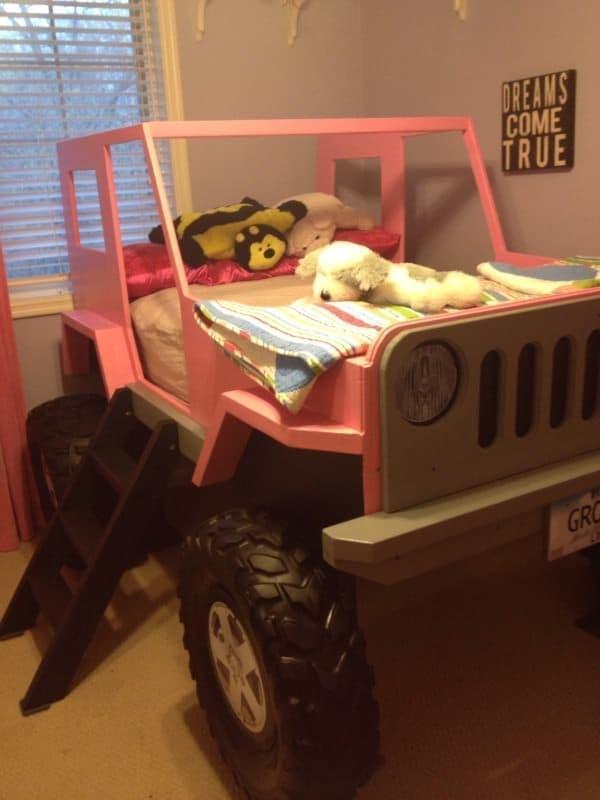 「JeepBed」は、ジープが大好きな子どもたちのために設計されたベッド  「ジープで寝たい!」という子どもの夢をかなえます