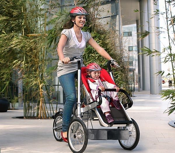 目的地までは自転車モードで移動