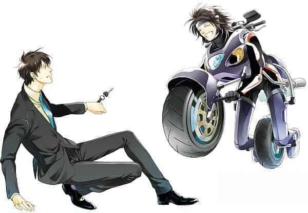 乗り物擬人化 BL シリーズ「ぞっこん」  バイクの方、思いっきり笑顔だ!
