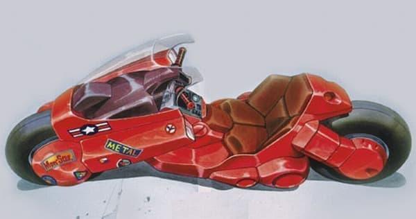 参考画像2:「NM4」に影響を与えたとされる『AKIRA』に登場する金田バイク   ミラーはフェアリングにビルトインされている