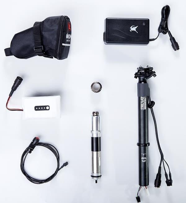 「Vivax Assist 4.0」キットの内容  自転車に詳しい人であれば、自分で装着できる   Gruber Antrieb GmbH & Co.による装着サービスは159ユーロ(約2万2,000円)