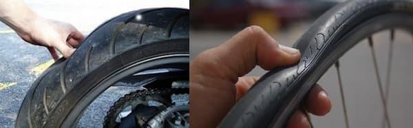 タイヤの空気圧が低すぎると、タイヤに悪影響を与える