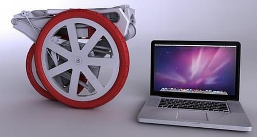 MacBook と比較すると、その小ささがよくわかる