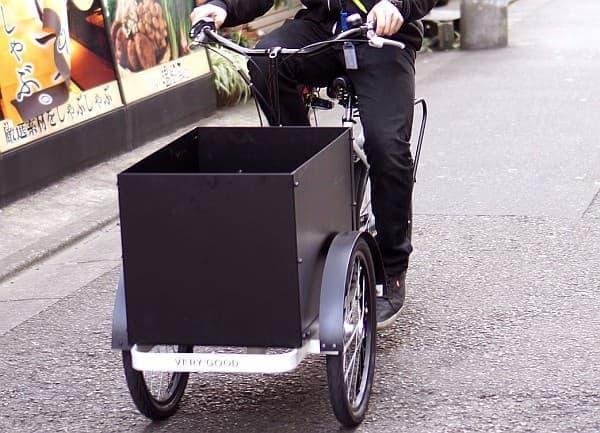 「Haco Bike(ハコバイク)」の横幅は60cm  道路交通法の基準に適合している