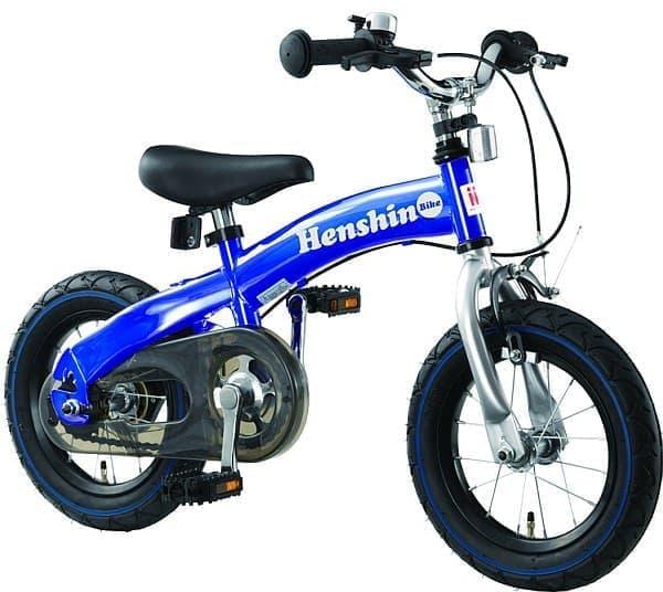 チェーンとペダルを取り付けると、通常の子ども向け自転車として利用可能