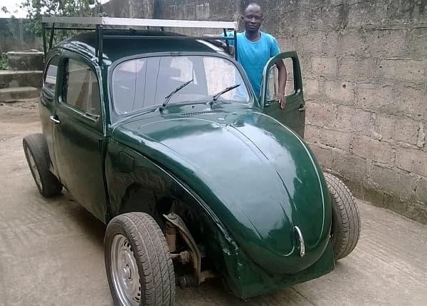 Segun Oyeyiola さんの製作したソーラーカー  「だん吉」を思いだしたのは、筆者だけ?  (出典:オバフェミ・アウォロウォ大学 OAUPEEPS FORUM)