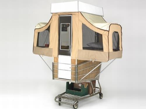 Kevin Cyr さんが制作したキャンピングカート「Camper Kart」
