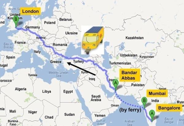 Rabelli さんによる、10か国にわたるおよそ1万キロの旅程