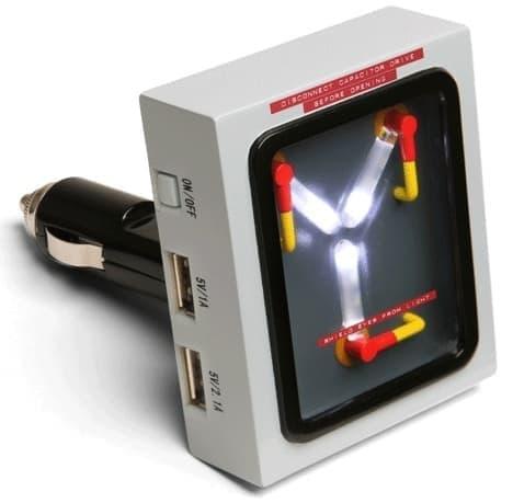 スマートフォン充電器「Flux Capacitor USB Car Charger」  動作には1.21 ジゴワット必要(ウソ)