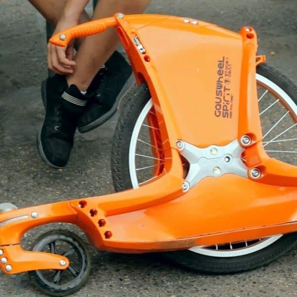 ブレーキの無い「SPIRIT STAGE1+」  色はオレンジ