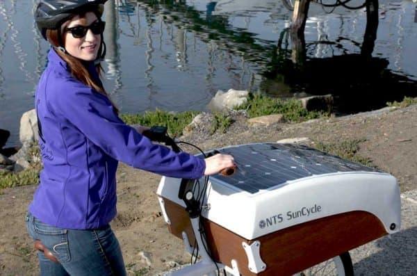 太陽電池を取り付けた電動アシスト自転車「NTS SunCycle」