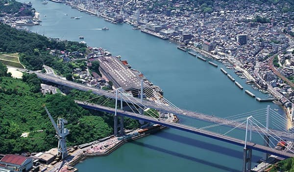「新尾道大橋」と「尾道大橋」