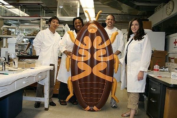 米国ジョージア大学昆虫学リサーチプログラムメンバーと、「巨大ゴキブリフロート」
