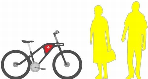 のんびりと走るときには、シティサイクルの形状に