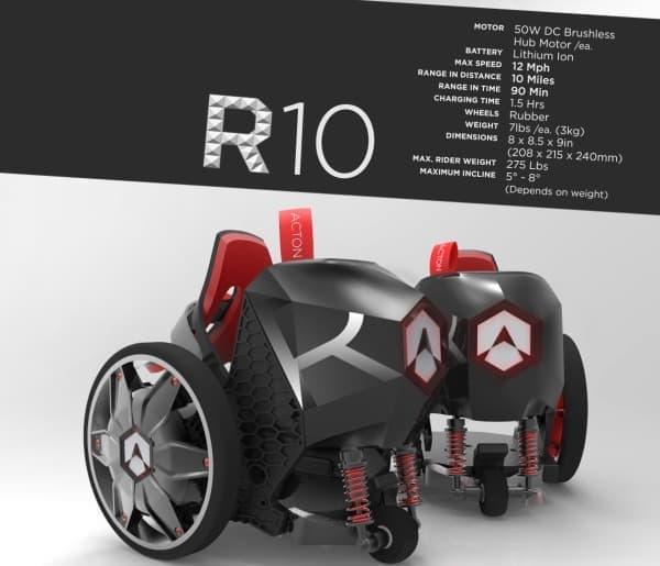 10マイル(約16キロ)走行可能な R10