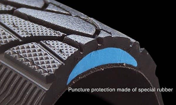 「Marathon Plus」は、タイヤが通常より5ミリ分厚いため、