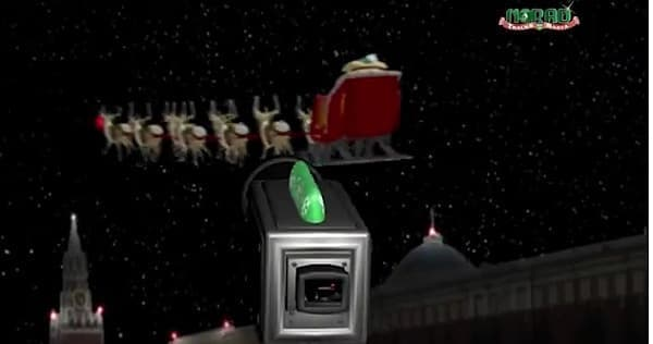そして世界各地に設置された「サンタ カメラ」で情報を収集している (出典:NORAD)