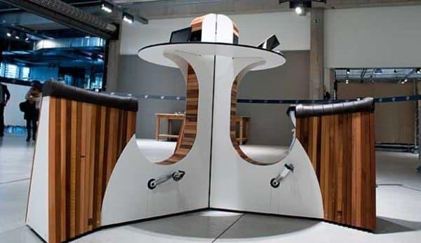 当初は Ceysens さん専用だった「WeBike」  現在は欧州の空港などにも設置されている