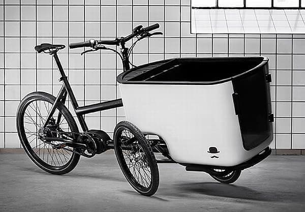 三輪のカーゴバイク「mk1」  風呂桶じゃないよ、荷台だよ!