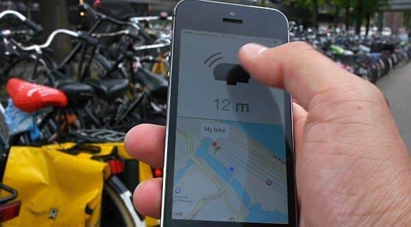 アプリ上のベルアイコンをタップすると、ベルが鳴り自転車の場所を知らせます