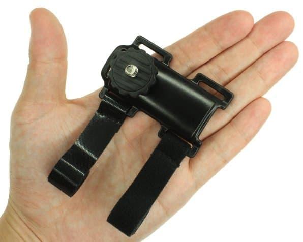 カメラネジの部分にデジカメを装着する