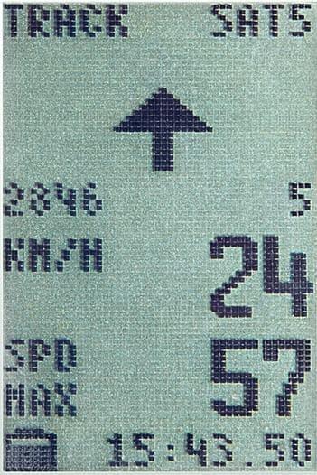 「GPS X-PLORE.XGX」は簡易ナビとしても機能  滑走ルートをディスプレイ内の矢印で知らせます