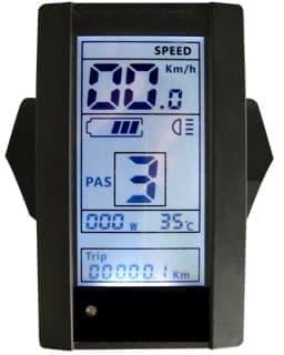 走行速度などが表示されるサイクルコンピューターを搭載