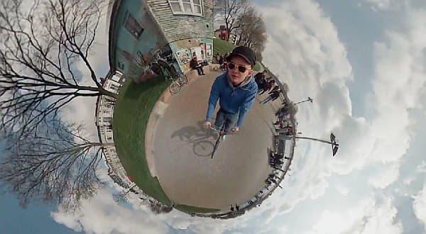 Jonas Ginter さんが撮影した、小さな惑星上を走る動画